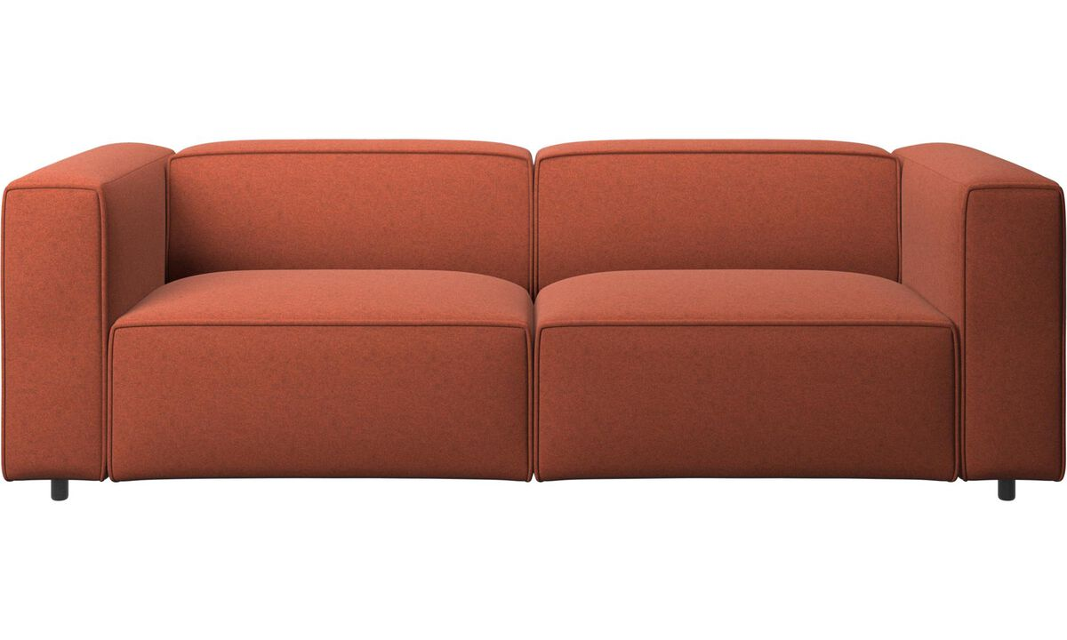 2.5 seater sofas - Carmo sofa - Orange - Fabric