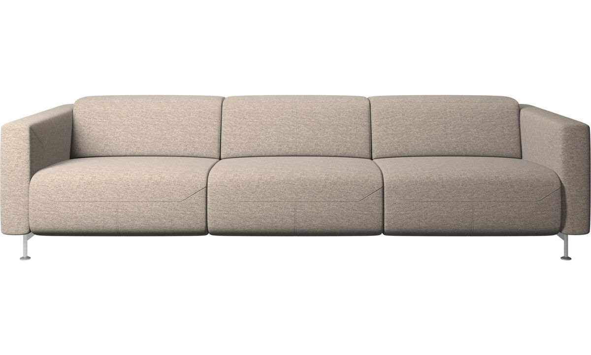 3 seater sofas - Parma reclining sofa - Beige - Fabric