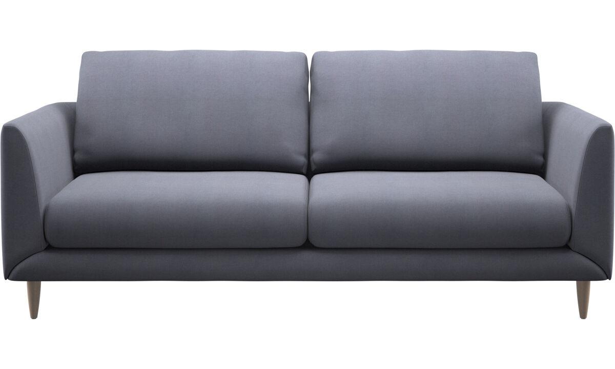 Canapés 2 places et demi - canapé Fargo - Bleu - Tissu