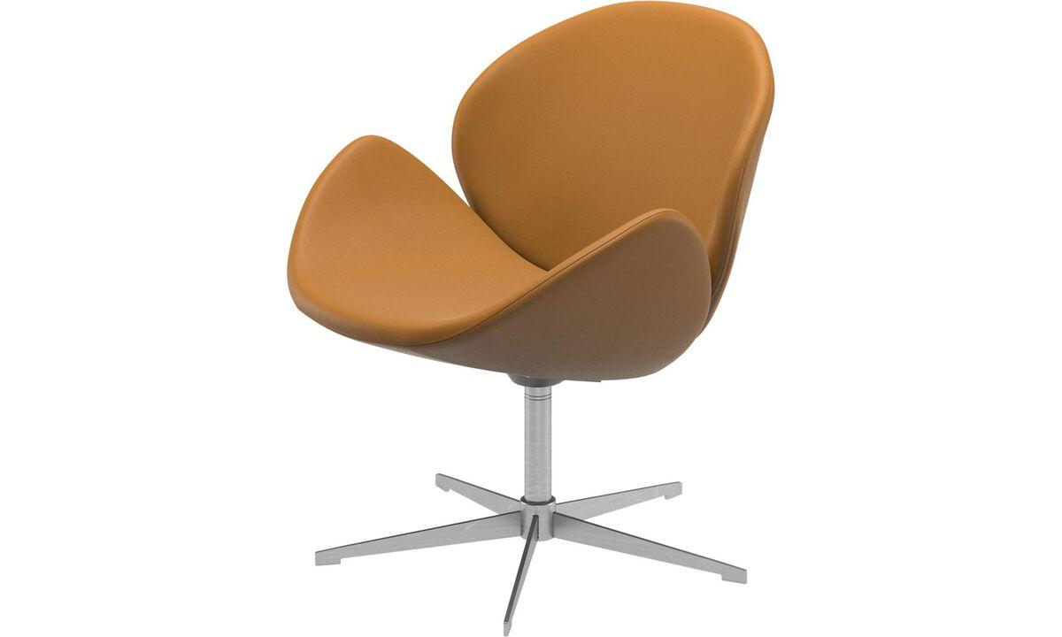 單椅 - Ogi 單椅 (附旋轉功能) - 褐色 - 皮革
