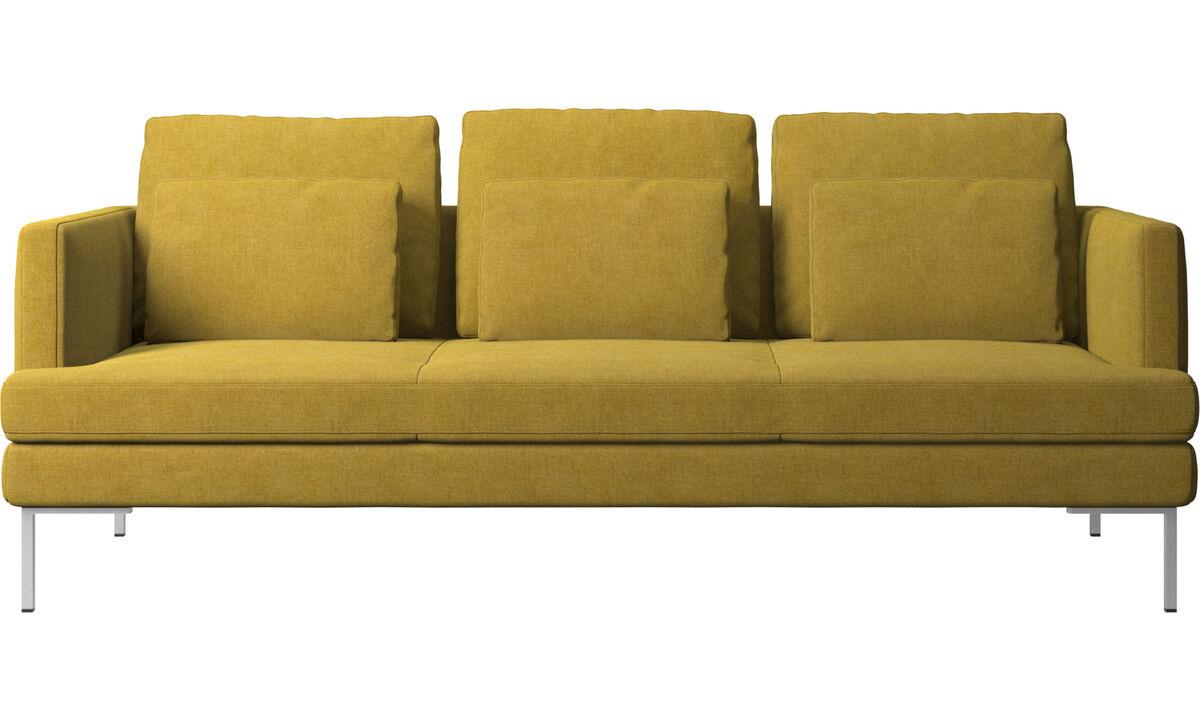 Sofás de 3 plazas - sofá Istra 2 - En amarillo - Tela