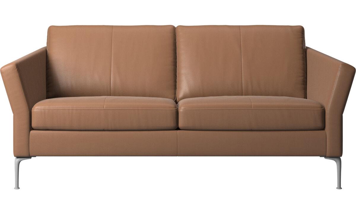 Sofás de 2 plazas y media - sofá Marseille - En marrón - Piel