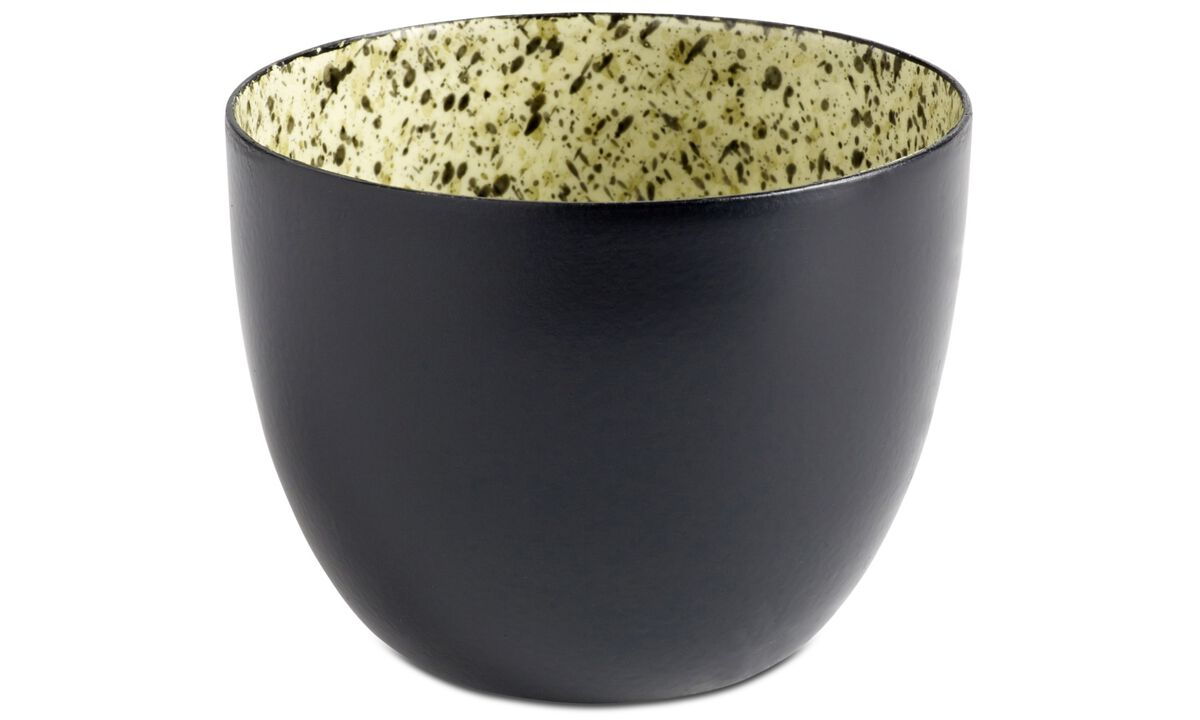 Decoration - Glaze mix tealight holder - Black - Metal