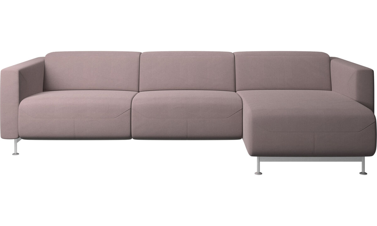 Chaise lounge sofas - Parma reclining sofa with chaise lounge - Purple - Fabric