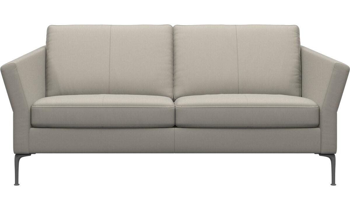 2.5 seater sofas - Marseille sofa - White - Leather