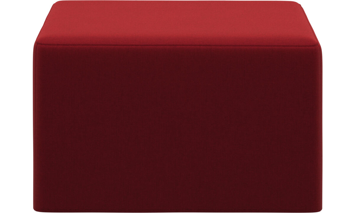 Footstools - Xtra footstool with sleeping function - Red - Fabric