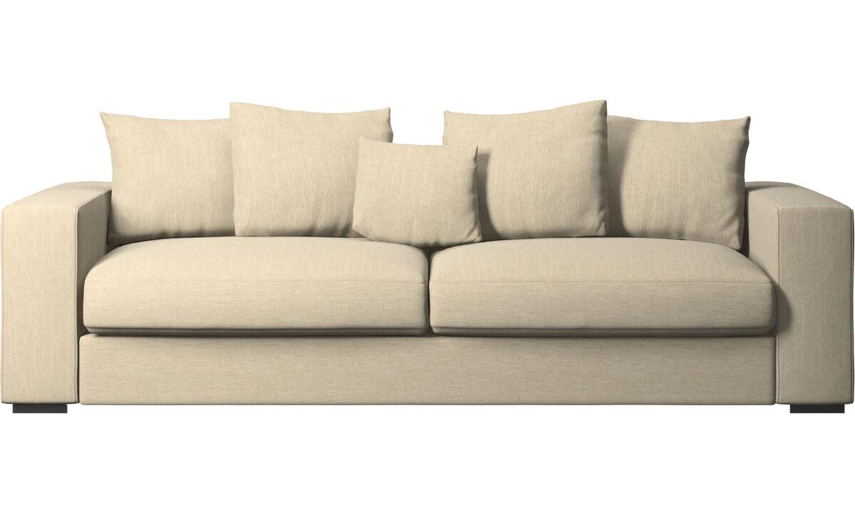 Sofás de 3 plazas - sofá Cenova - En marrón - Tela