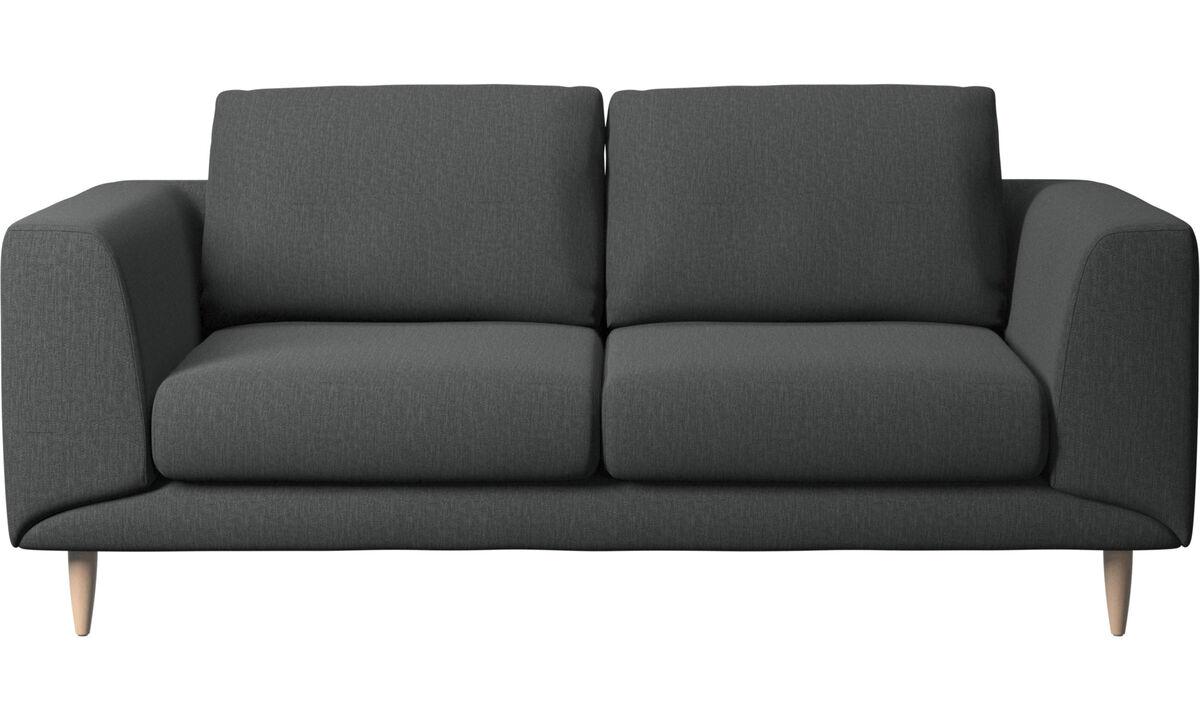 2 θέσιοι καναπέδες - Καναπές Fargo - Γκρι - Ύφασμα