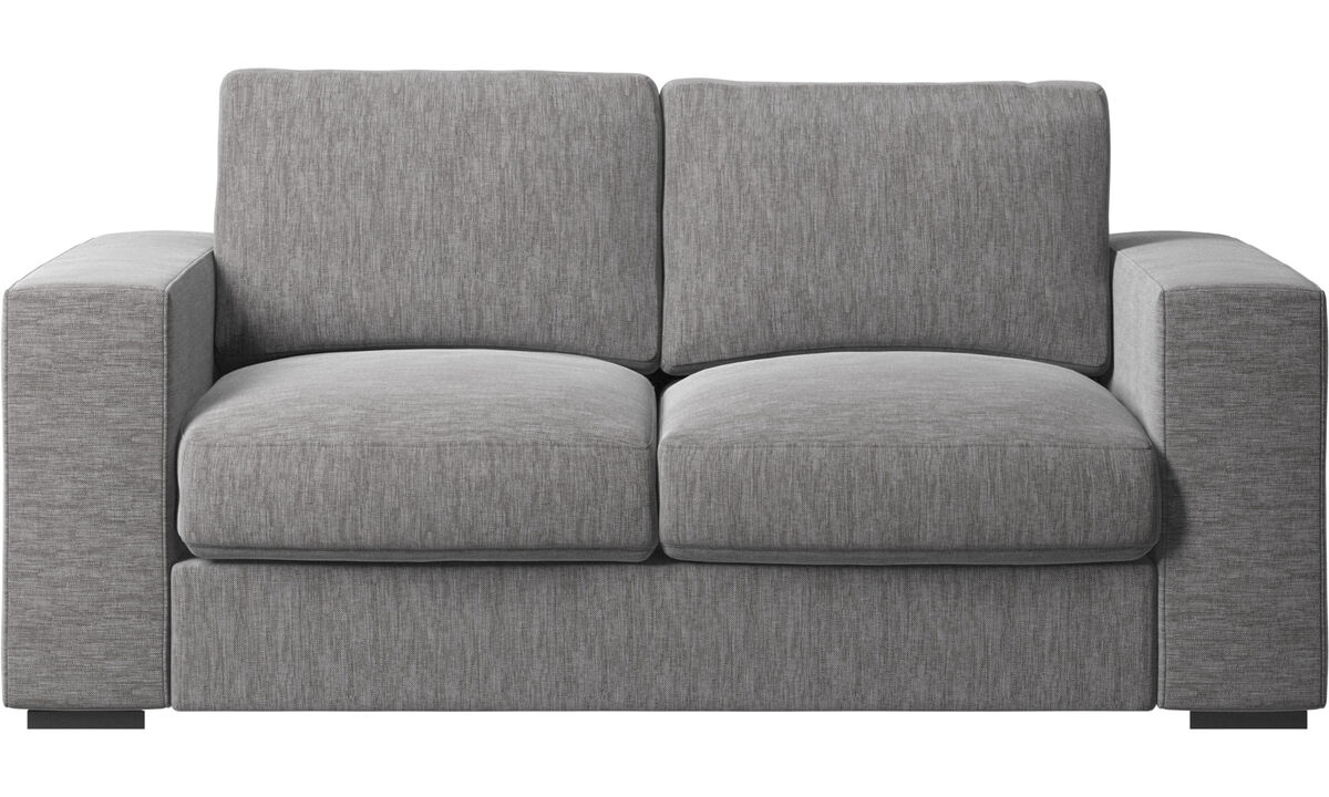 Sofás de 2 plazas - sofá Cenova - En gris - Tela