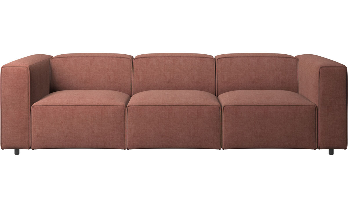 3 seater sofas - Carmo sofa - Red - Fabric