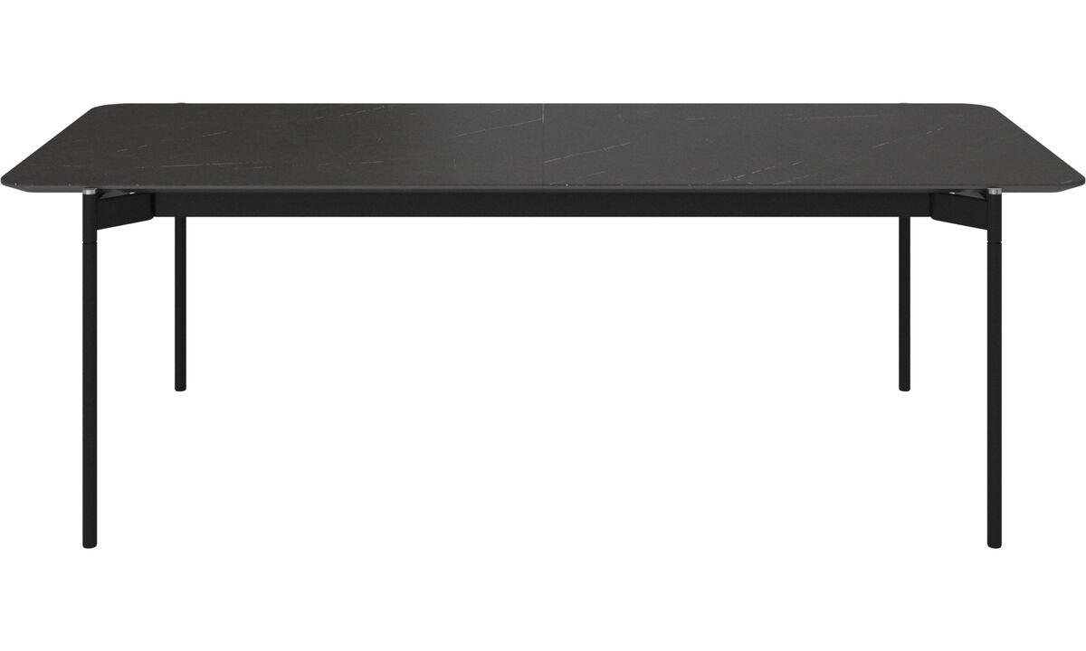 Tables de salle à manger - table Augusta avec allonge - rectangulaire - Noir - Céramique