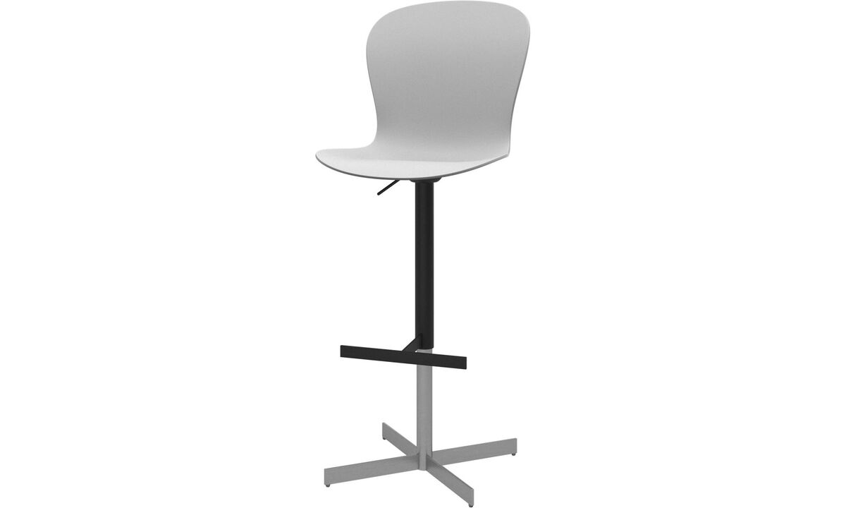 Barstools - Adelaide barstool with gas cartridge - White - Metal