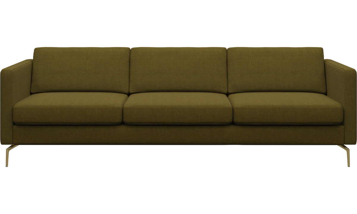 3 seater sofas - Osaka sofa, regular seat - Yellow - Fabric