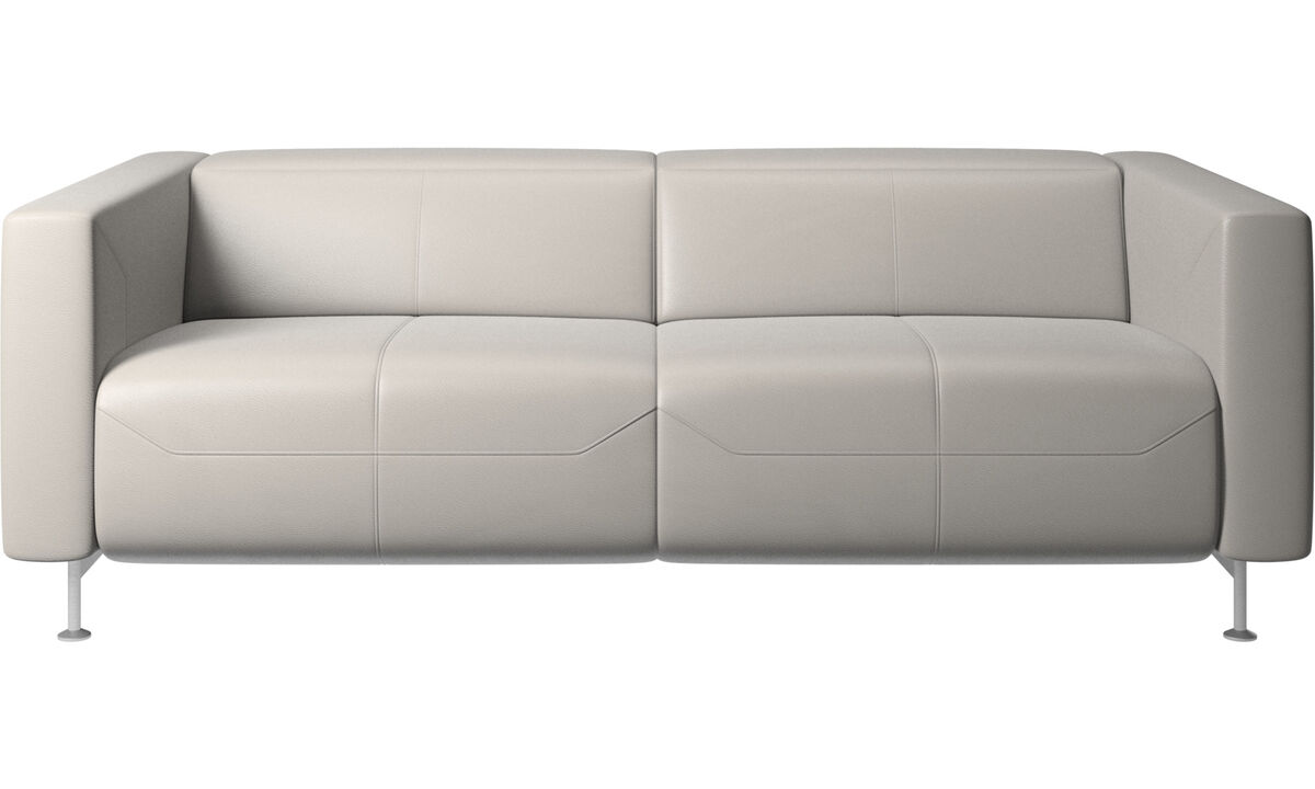 2.5 seater sofas - Parma reclining sofa - Gray - Leather