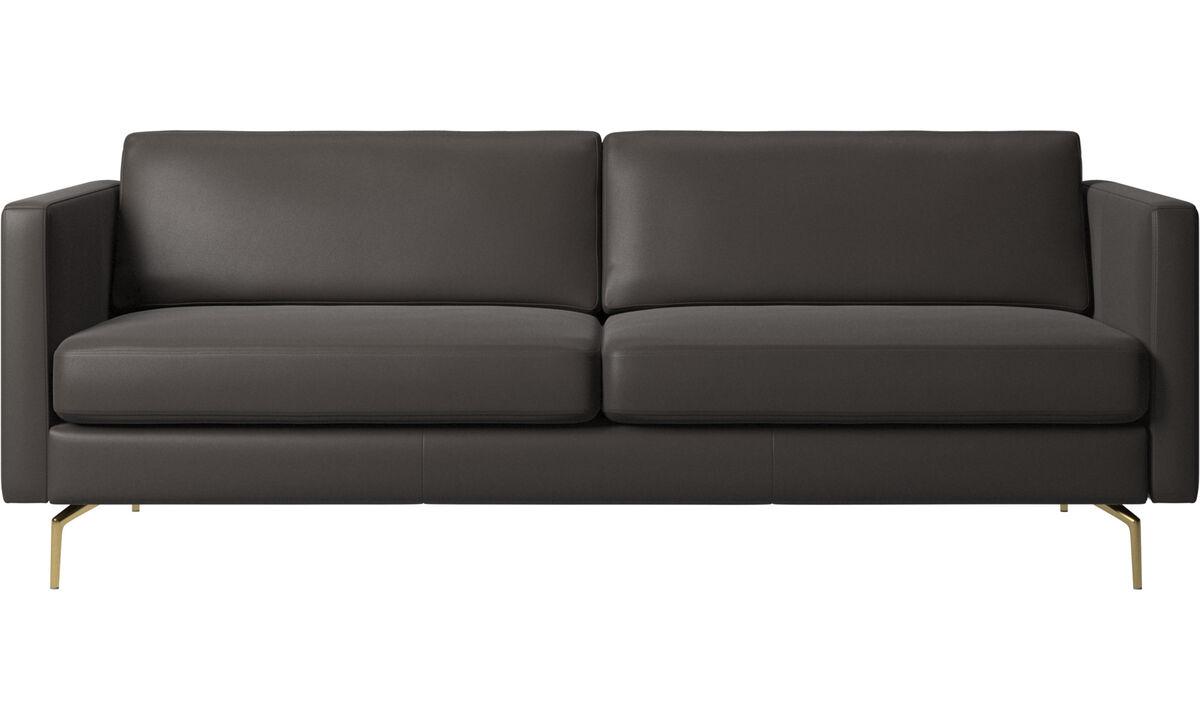 2.5 seater sofas - Osaka sofa, regular seat - Brown - Leather