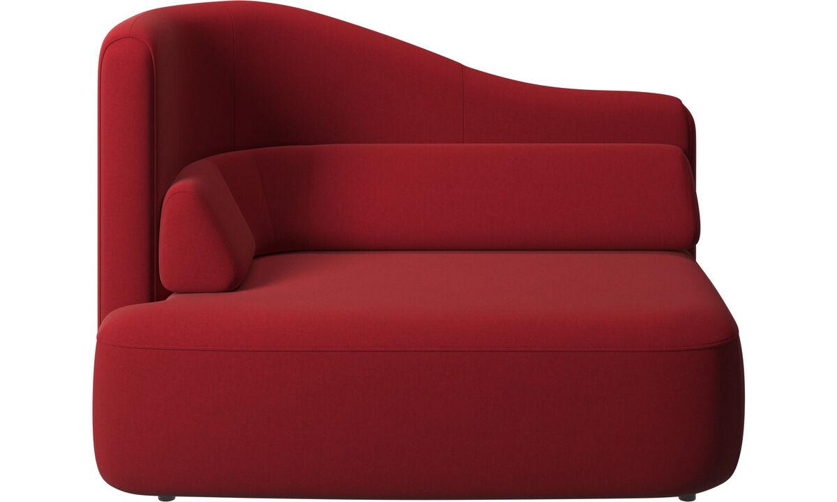 Sofás modulares - assento Ottawa 1,5 braço esquerdo - Vermelho - Tecido