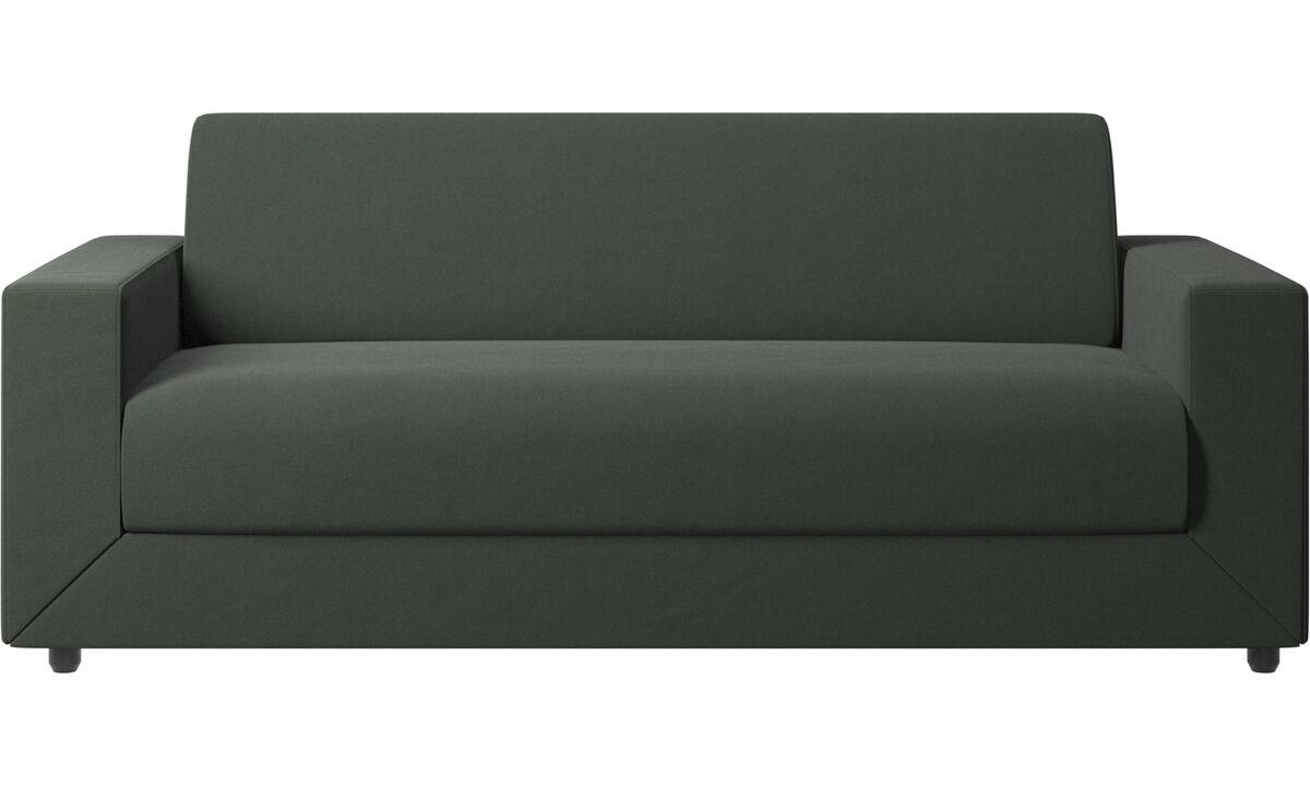 Sofás cama - sofá cama Stockholm - En verde - Tela