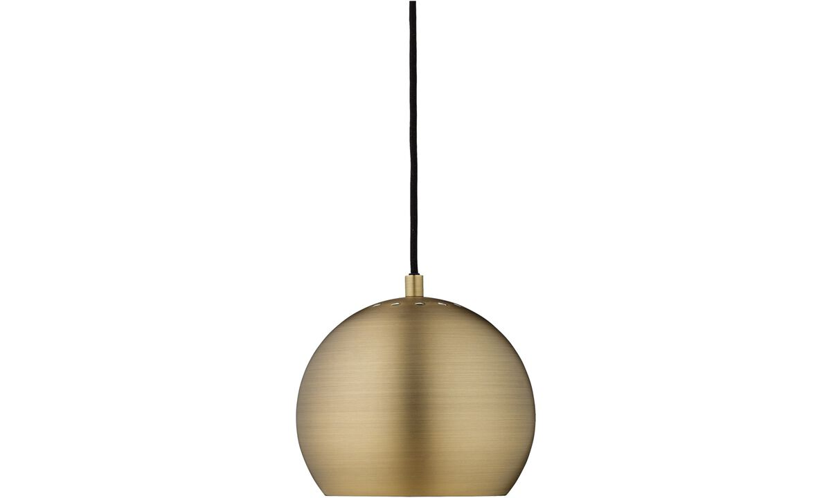 Lamps - Ball pendant - Yellow - Metal