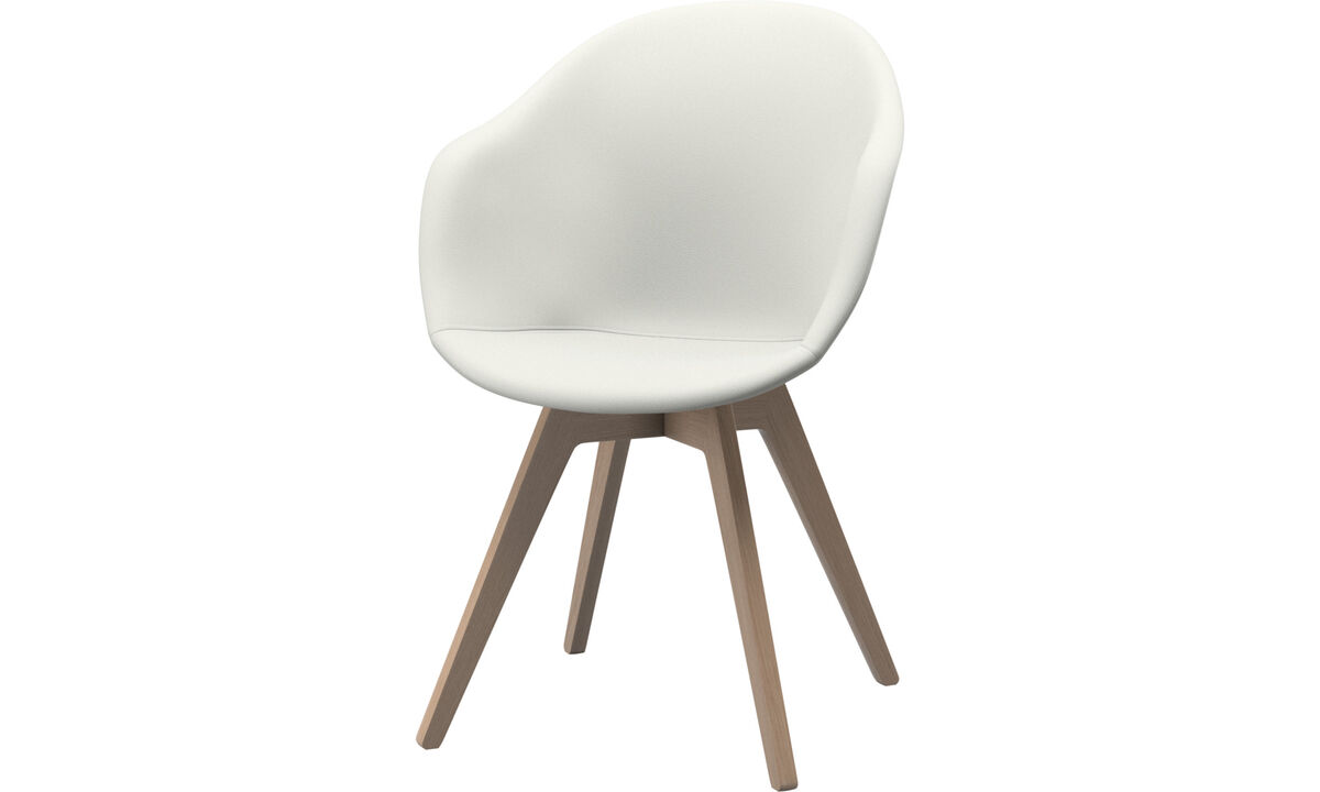 Dining chairs - Adelaide chair - White - Leather