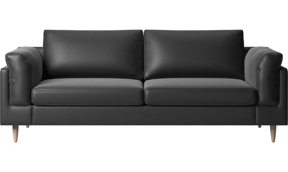 2.5 seater sofas - Indivi sofa - Black - Leather