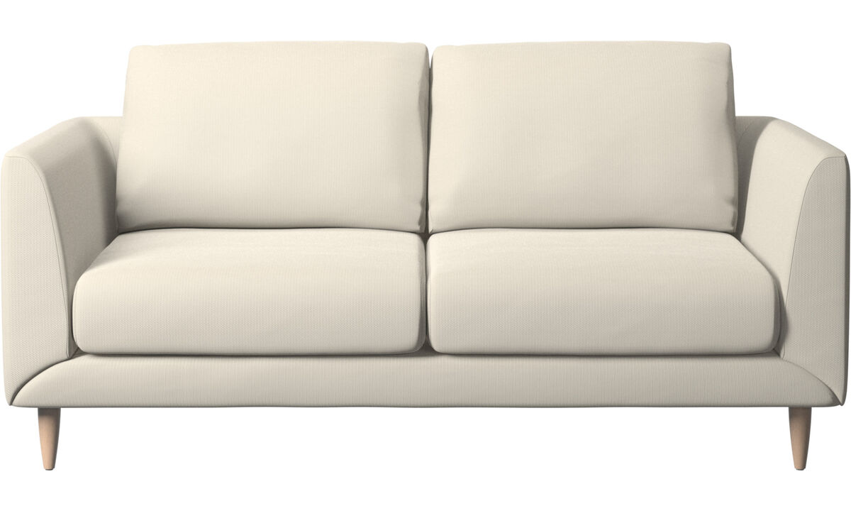 2 seater sofas - Fargo sofa - White - Fabric