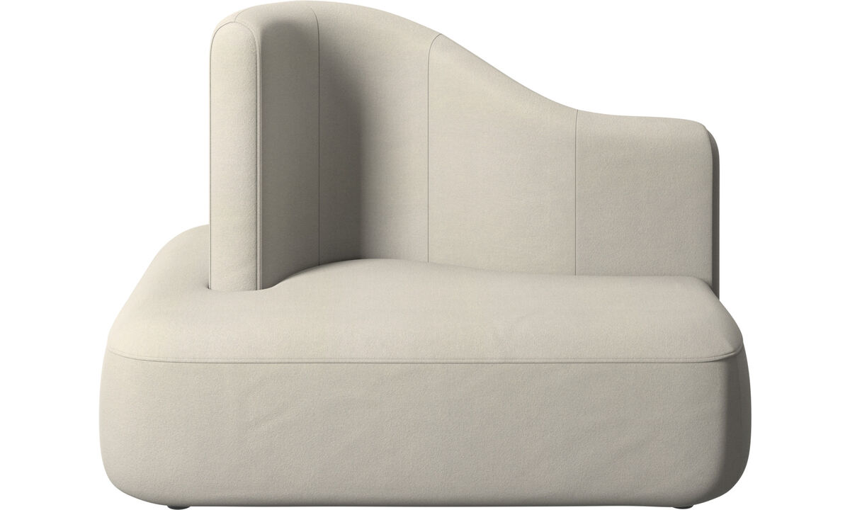 Modular sofas - Ottawa square high back - White - Fabric