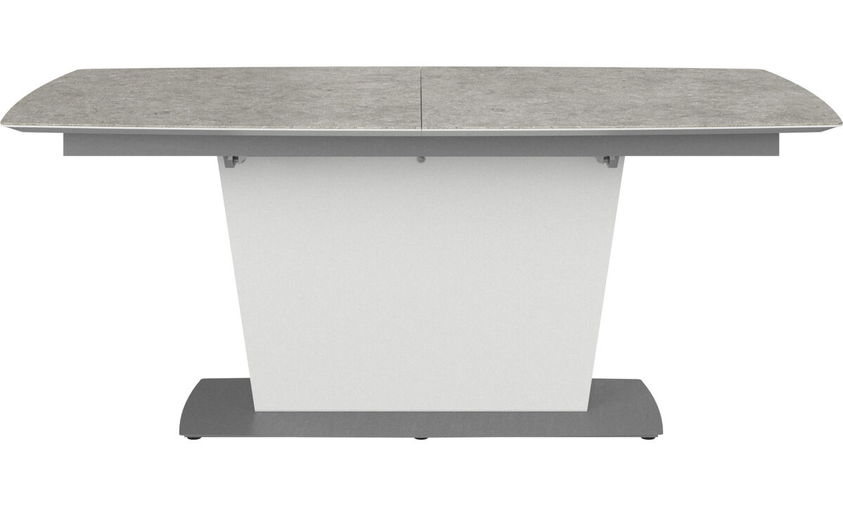 Mesas de comedor - Mesa extensible con tablero suplementario Milano - rectangular - En gris - Ceramic