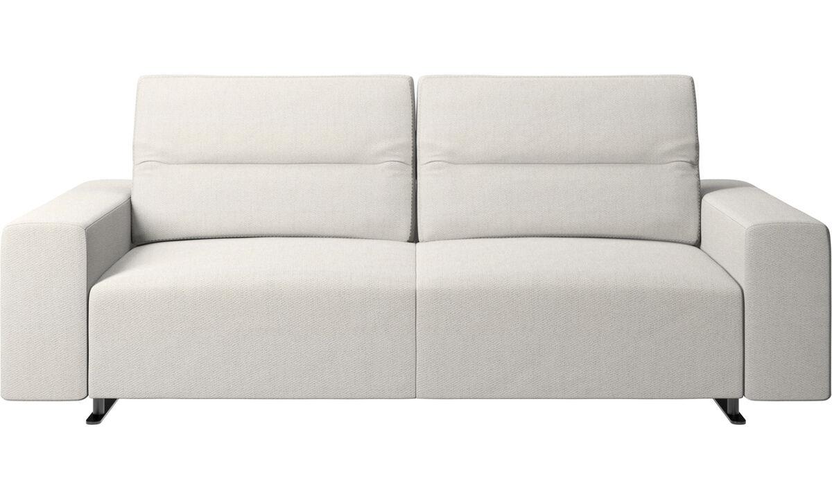 2.5 seater sofas - Hampton sofa with adjustable back - White - Fabric