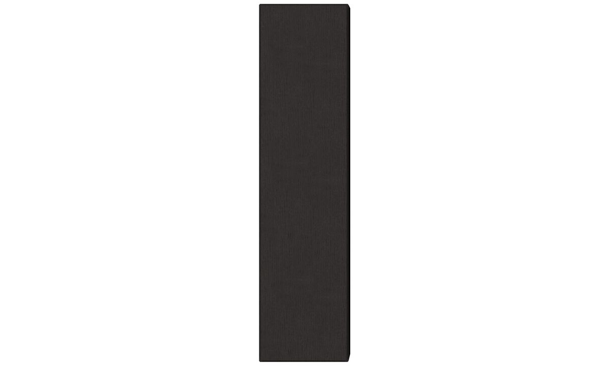 Wall systems - Lugano wall mounted cabinet - Black - Oak