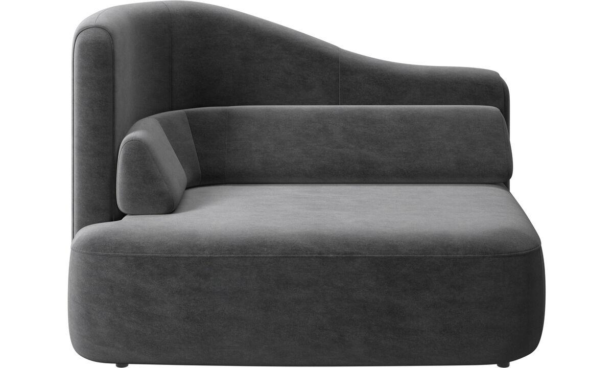 Modulære sofaer - Ottawa 1,5 personers venstre armlæn - Grå - Stof