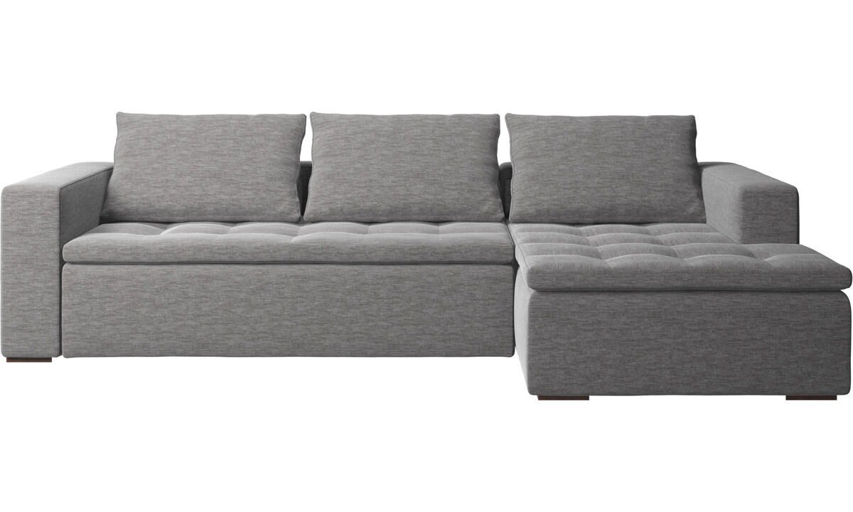 Chaise longue sofas - Mezzo sofa with resting unit - Grey - Fabric