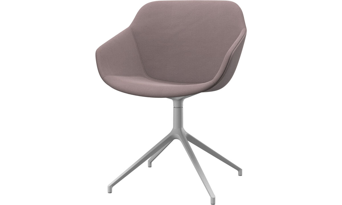 Dining chairs - Vienna chair with swivel function - Purple - Fabric
