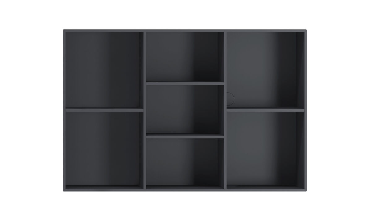 New designs - Como bookcase - Gray - Lacquered