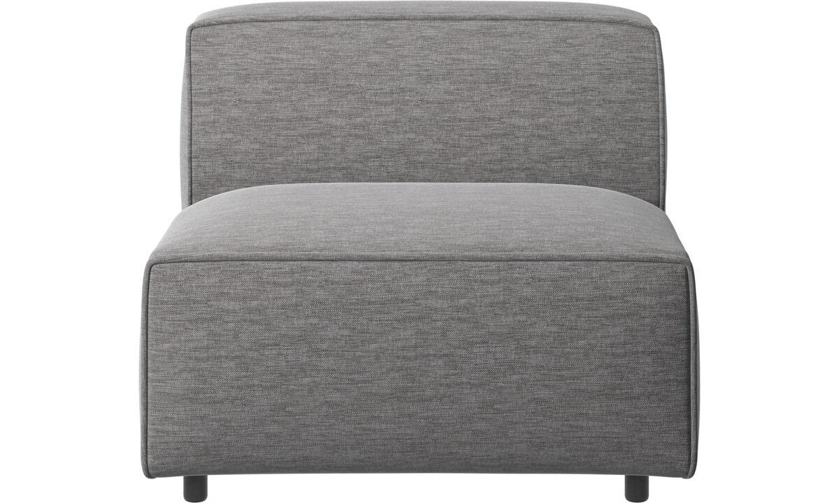 Sofás modulares - Silla/módulo básico Carmo - En gris - Tela