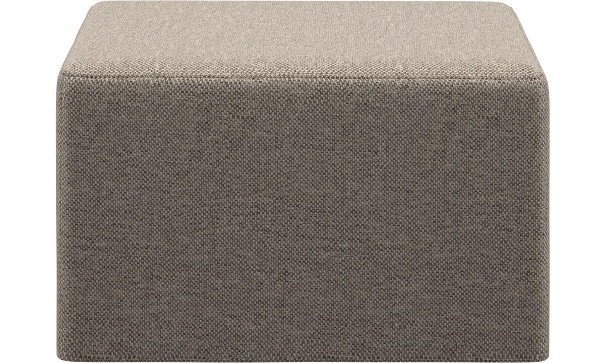 Sofy rozkładane - Puf Xtra z funkcją spania - Beżowy - Tkanina