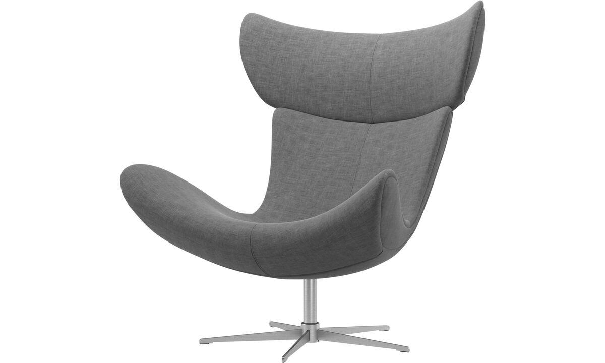 Fauteuils - fauteuil Imola avec fonction pivotante - Gris - Tissu