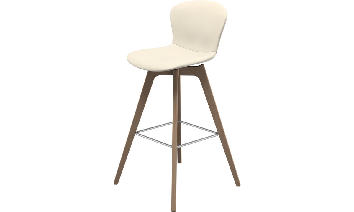 Bar stools - Adelaide barstool - White - Leather