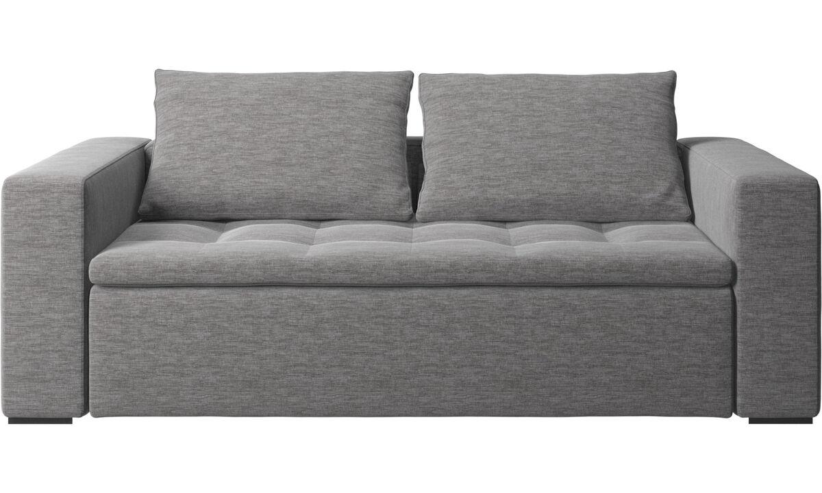 Sofás de 2 plazas y media - Sofá Mezzo - En gris - Tela