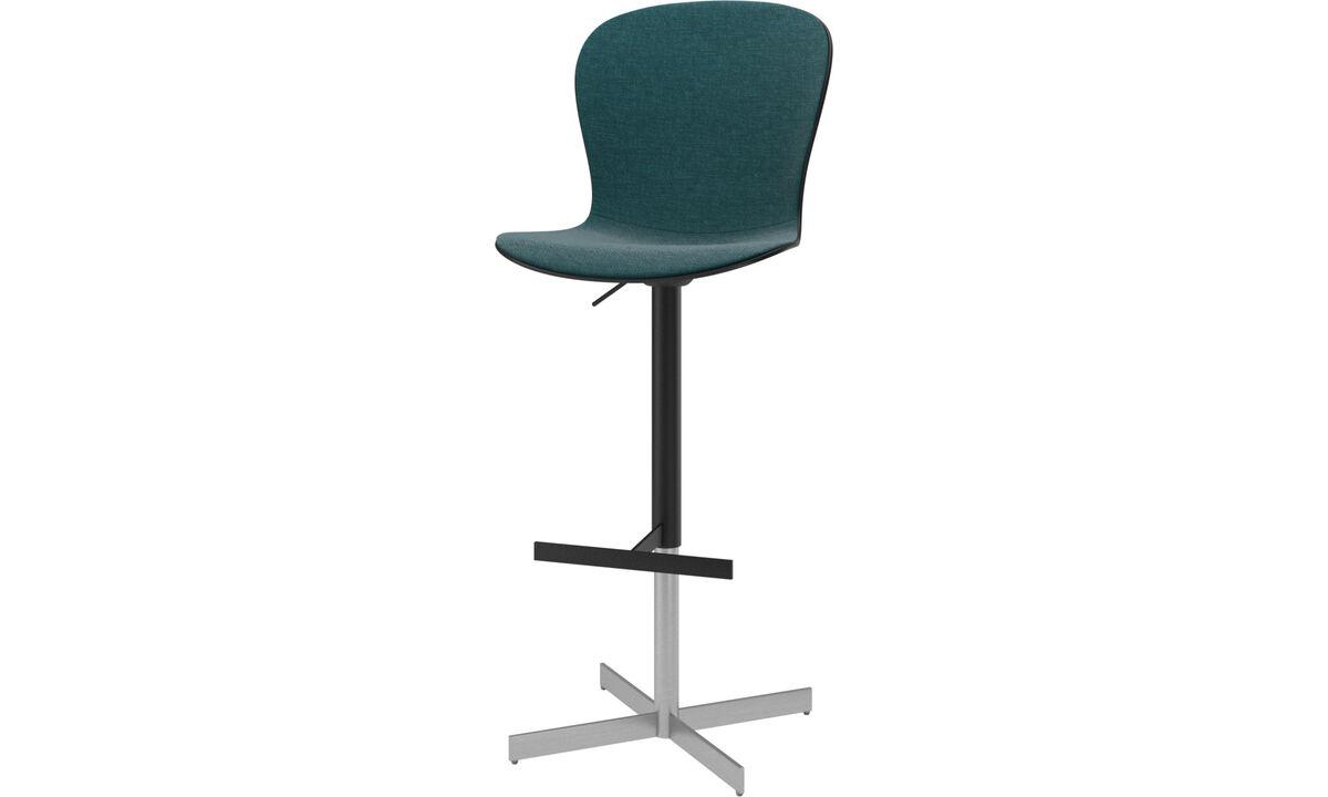 Bar stools - Adelaide barstool with gas cartridge - Blue - Plastic