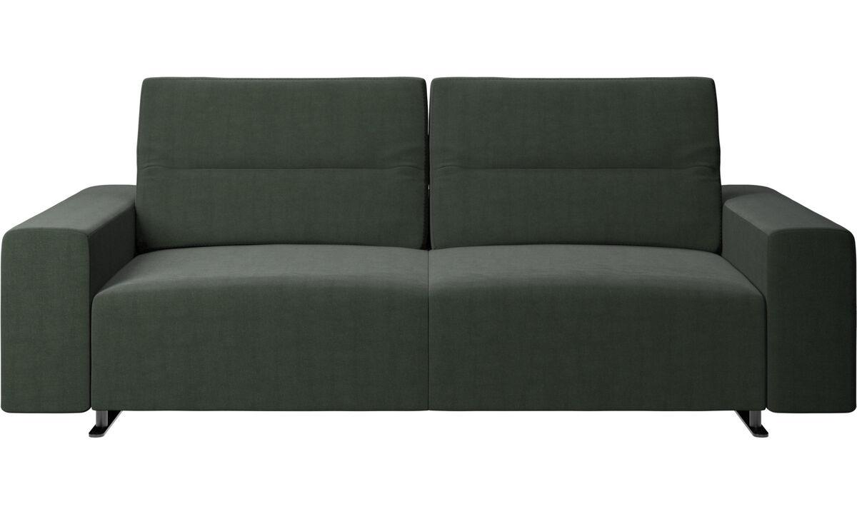 Sofás de 2 plazas y media - Sofá Hampton con respaldo ajustable - En verde - Tela