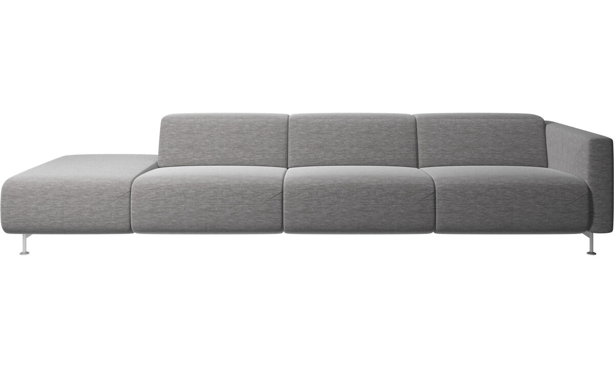 Sofas with open end - Parma reclining sofa with open end - Grey - Fabric