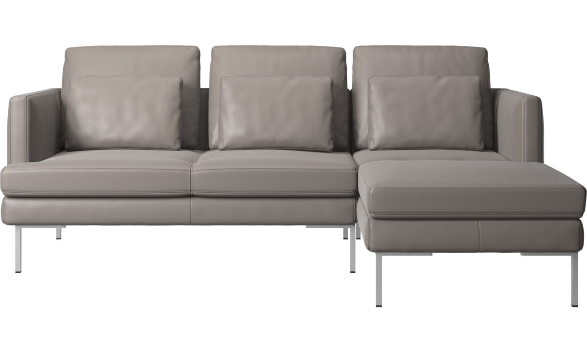 3 seater sofas - Istra 2 sofa with resting unit - Beige - Leather