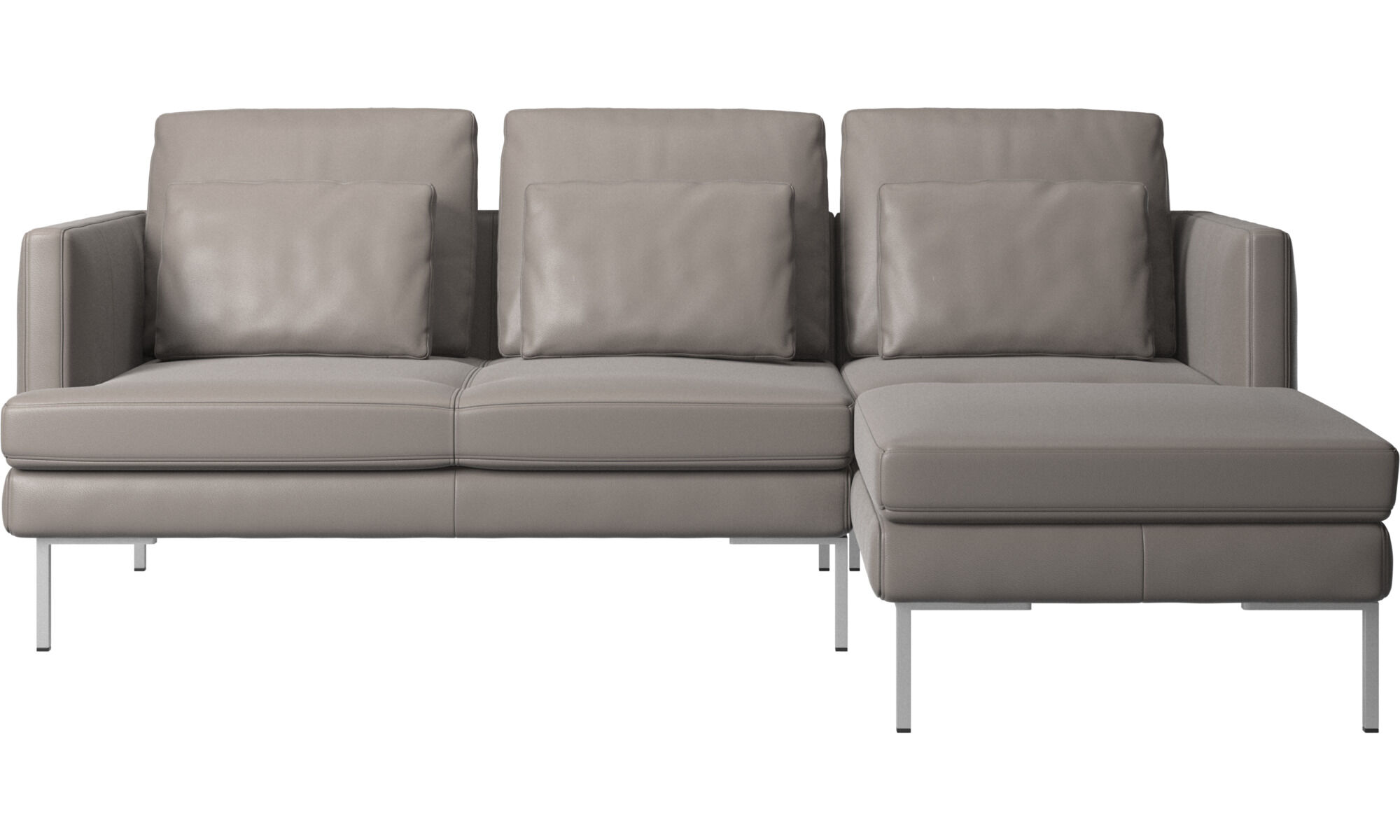 3 seater sofas - Istra 2 sofa with resting unit - Beige - Leather  sc 1 st  BoConcept : chaise lounge leather furniture - Sectionals, Sofas & Couches