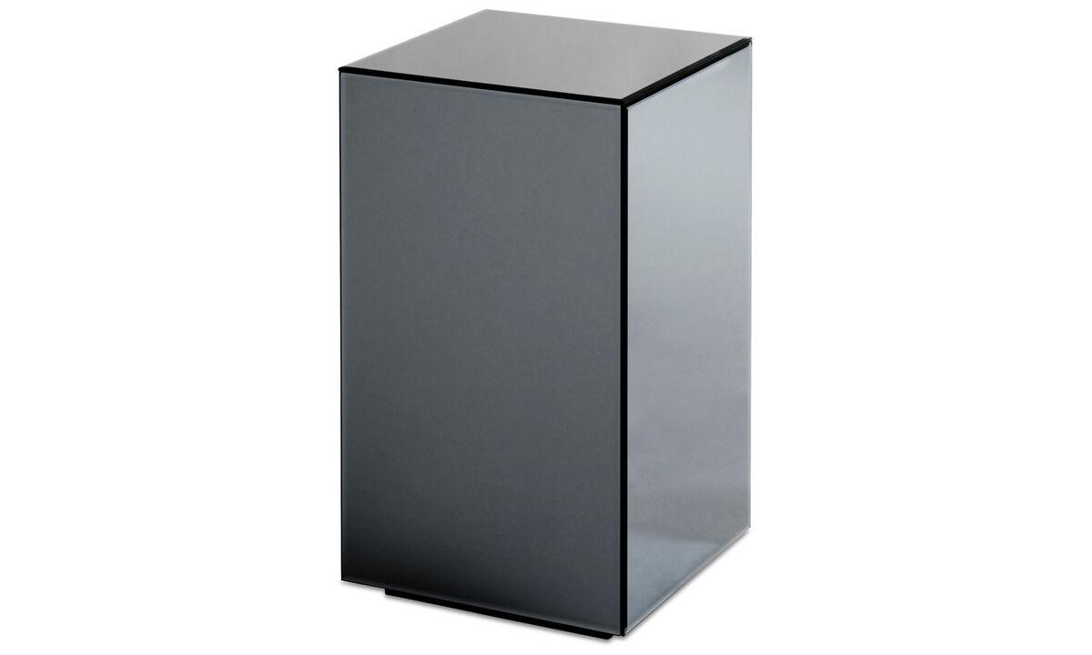 Pequeño mobiliario - Espejo mesa Block - cuadrado - En gris - Cristal