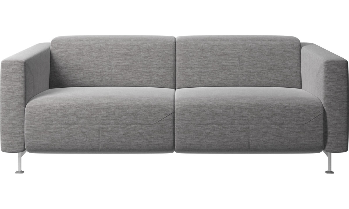 2 seater sofas - Parma reclining sofa - Grey - Fabric