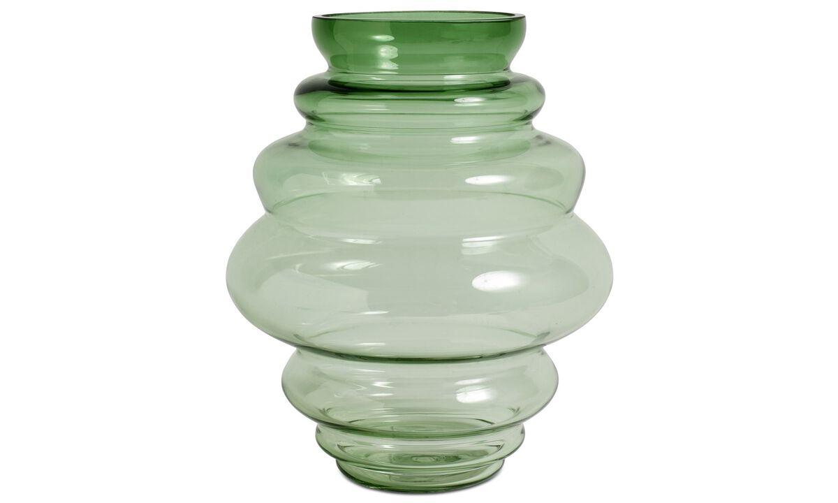 Jarrones - Jarrón Viva - En verde - Cristal