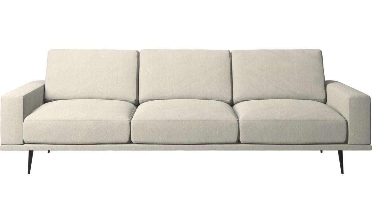 3 seater sofas - Carlton sofa - White - Fabric