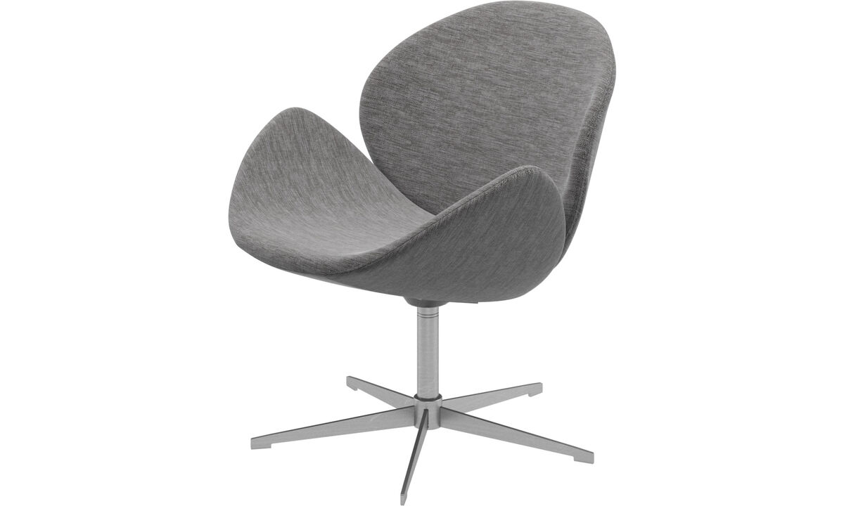 Armchairs - Ogi chair with swivel function - Grey - Fabric