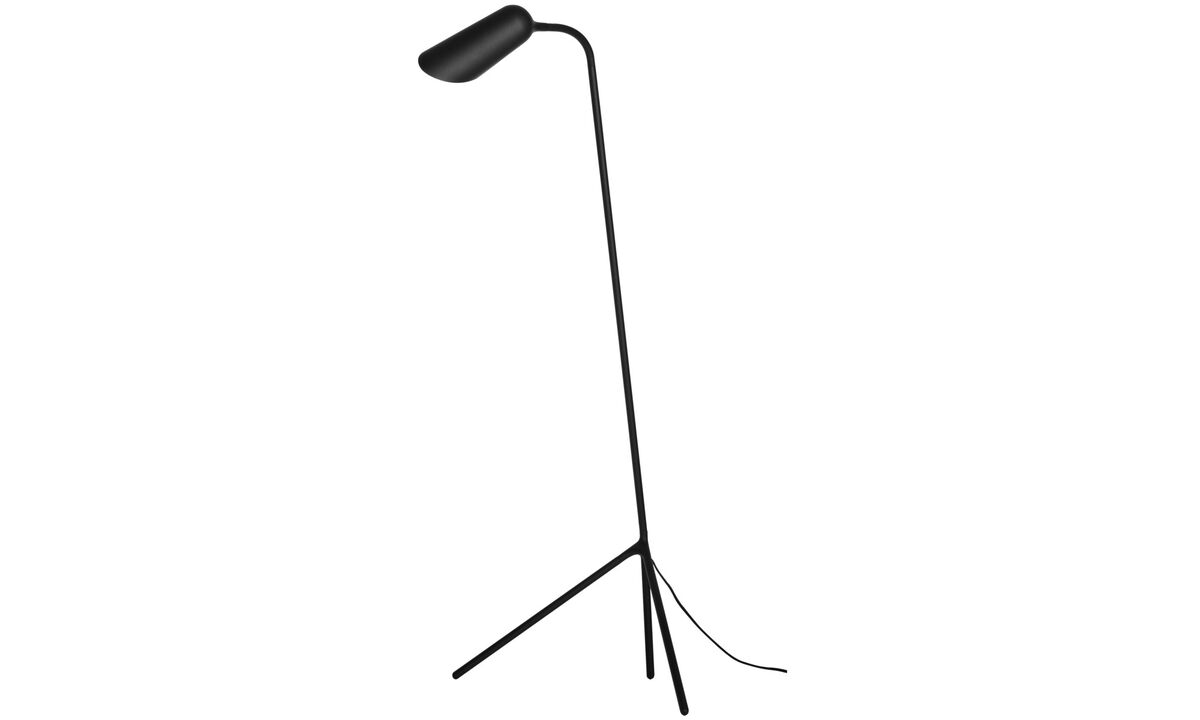 Table lamps - Curious floor lamp - Black - Metal