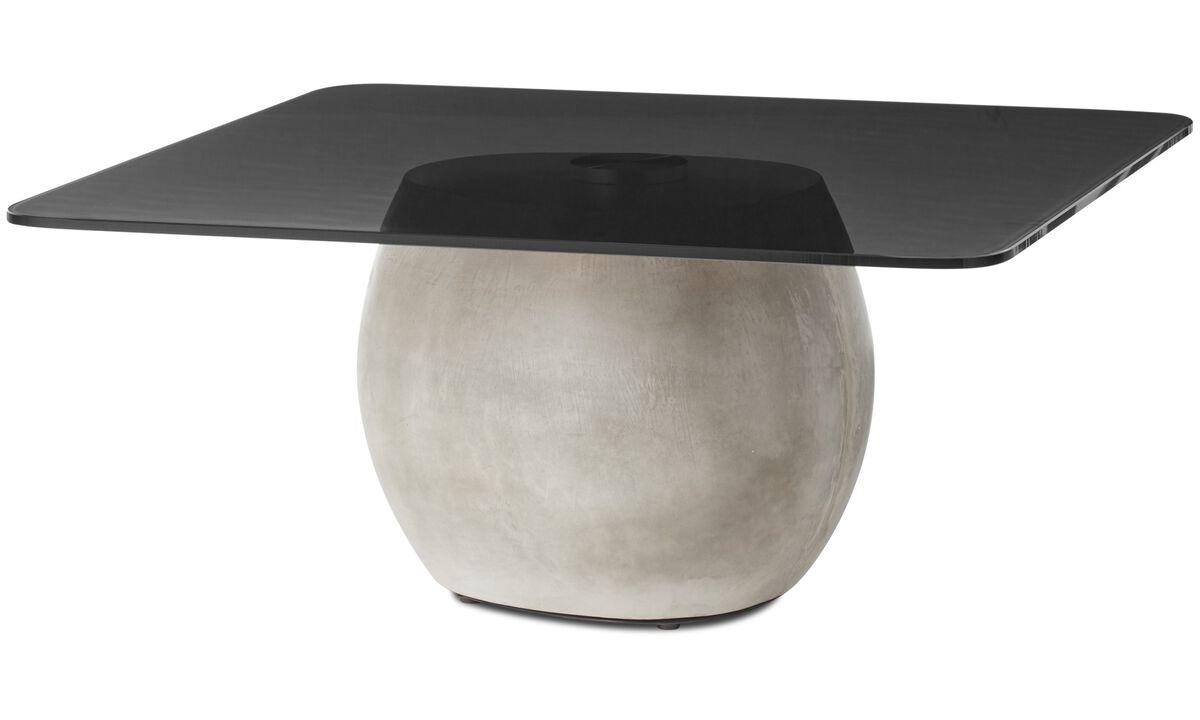 Mesas de centro - mesa lateral Bilbao - quadrada - Cinza - Vidro